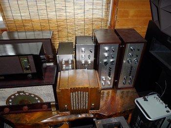 完成ラジオとアンプ.JPG